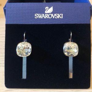 NIB Swarovski Sheena Pierces Earrings Crystal